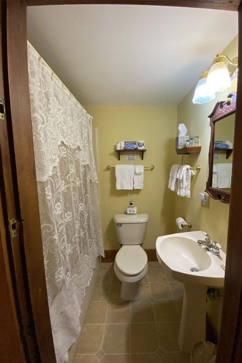 Olivia Bathroom | Follansbee Inn, Lake Sunapee, NH