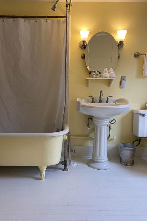 Family Bathroom 2 | Follansbee Inn, Lake Sunapee, NH