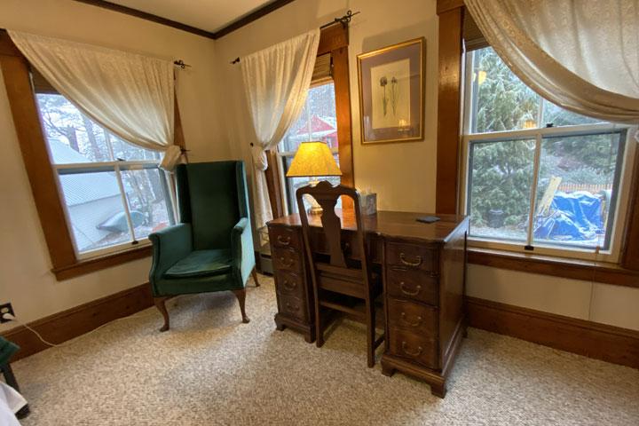 Lora Chair and Desk | Follansbee Inn, Lake Sunapee, NH