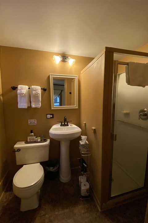 Lora Bathroom | Follansbee Inn, Lake Sunapee, NH