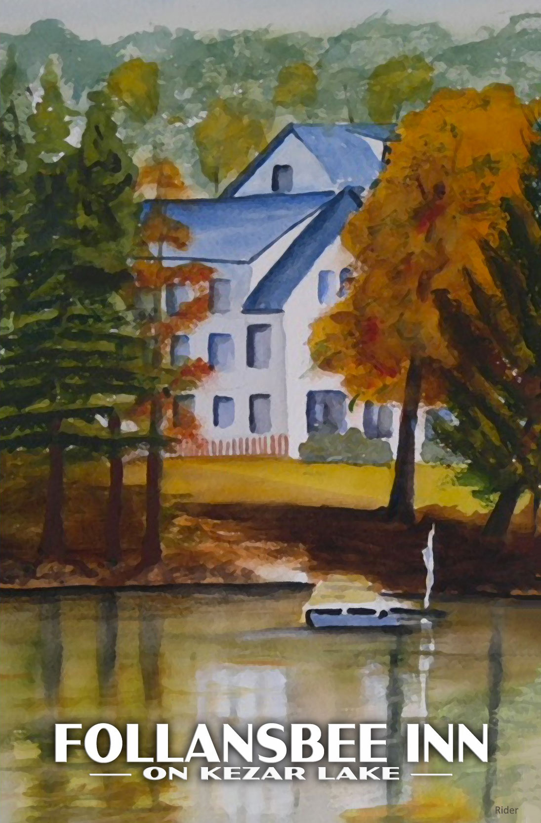 The Follansbee Inn Art | Follansbee Inn, Kazer Lake, NH