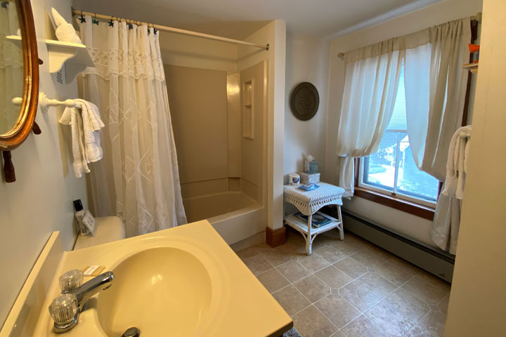 Bennet Bathroom | Follansbee Inn, Lake Sunapee, NH