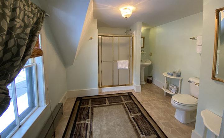 Talbot Bathroom | Follansbee Inn, Lake Sunapee, NH