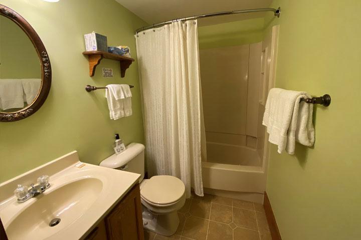 Valerie Bathroom | Follansbee Inn, Lake Sunapee, NH