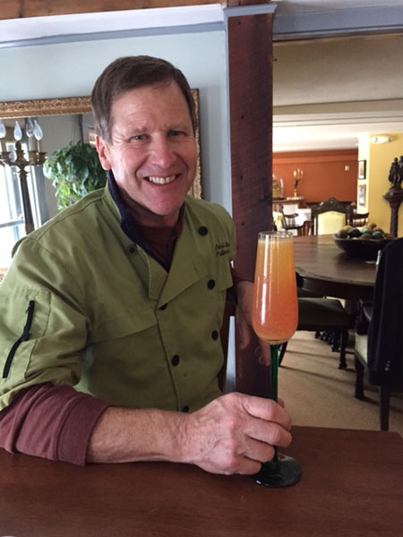 Denis Holding Glass | Follansbee Inn, Kazer Lake, NH